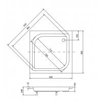 Панель акриловая для поддона BESCO PMD PIRAMIDA ARES 80Х80Х25
