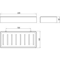 Полочка для ванной комнаты Emco Loft Black, 0545 133 02
