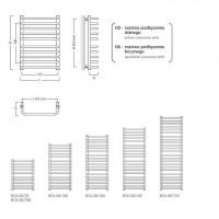 Полотенцесушитель электрический Instal Projekt BOLERO, белый, BOL-50/70