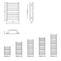 Полотенцесушитель водяной Instal Projekt AMBRA R, медный, белый, AMBR-50/120M