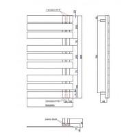 Полотенцесушитель водяной/электрический Instal Projekt NAMELESS, белый, Nam-50/90W