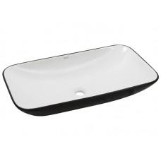 Раковина накладная Newarc Countertop 70х40 см черно-белая  5019BW