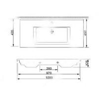 Раковина Newarc Silver Slim 100x45 см белая 501100