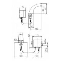 Сенсорный Смеситель для раковины ARMATURA Special 592-100-00