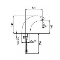 Сенсорный смеситель для раковины KFA ARMATURA  592-000-00