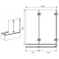 Штора для ванны KOLO NIVEN 125 левая FPNF12222008L