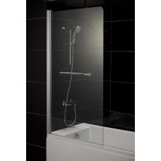 Штора на ванну 80*150, стекло прозрачное, левая 599-02L