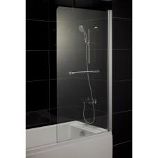 Штора на ванну 80*150, стекло прозрачное, правая 599-02R
