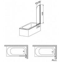 Шторы для ванны Aquaform MODERN 1  170-06951P