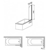 Шторы для ванны Aquaform MODERN 1  170-06954P