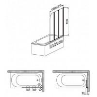 Шторы для ванны Aquaform MODERN 3 170-06992P