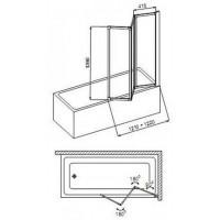 Шторы для ванны Aquaform STANDARD 170-04000P