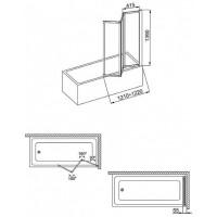 Шторы для ванны Aquaform STANDARD 170-04010