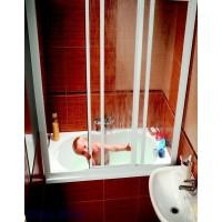 Шторы для ванны Ravak AVDP3 - 160 GRAPE белый профиль