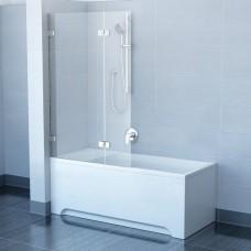 Шторы для ванны Ravak BVS2 - 100 R TRANSPARENT хром