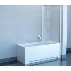 Шторы для ванны Ravak CVS1 - 80 R TRANSPARENT белый профиль