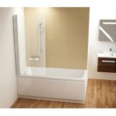 Шторы для ванны Ravak CVS1 - 80 L TRANSPARENT белый профиль