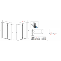 Шторка для ванны RADAWAY Essenza New PND 100,  207210-01L/R