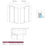 Шторка для ванны RADAWAY Torrenta PND 100,  201202-101N L/R