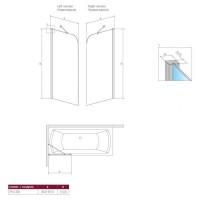 Шторка для ванны RADAWAY Torrenta PNJ 80,  201101-101N L/R