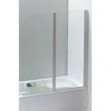 Шторка на ванну EGER  120*138 см, цвет профиля белый, прозрачное стекло 599-121W