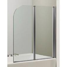 Шторка на ванну EGER  120*138 см, цвет профиля хром, прозрачное стекло 599-121CH