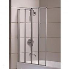 Шторка на ванну EGER  89*140см, цвет профиля хром, прозрачное стекло 599-110