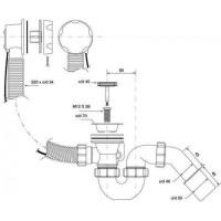 Сифон автомат для ванны McAlpine HC31М-S1