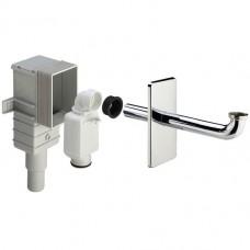 Сифон для раковины консольного типа VIEGA горизонтальный, 1/4x50/40, пластик/хром