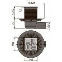 Сливной трап Alcaplast APV101 105x105/50мм