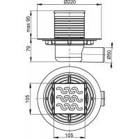 Сливной трап Alcaplast APV102 105x105/50мм