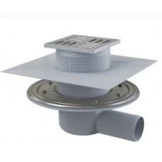 Сливной трап Alcaplast APV1324 105x105/50 мм комбинированный затвор SMART с зажимным фланцем