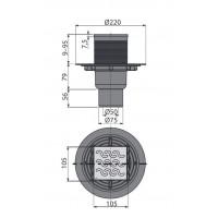 Сливной трап Alcaplast APV202 105x105/50 мм