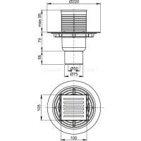 Сливной трап Alcaplast APV203 105x105 50 мм