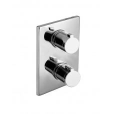 Смеситель для душа Imprese Centrum термостат скрытый монтаж на 3 потребителя ( VRB-10400Z )