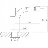 Смеситель Luvio для биде с гидрозатвором клик-клак S951- 017