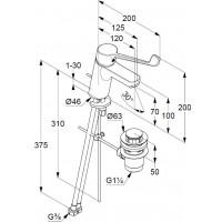 Смеситель однорычажный для раковины KLUDI PURE&EASY CARE, 372870565