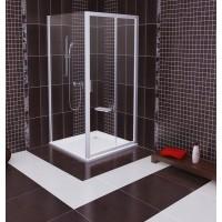 Стенка для душевой кабинки Ravak BLIX BLPS - 100 Grape, профиль сатин, безопасное стекло