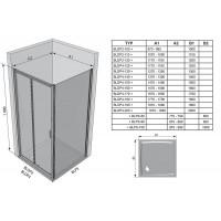 Стенка для душевой кабинки Ravak BLIX BLPS - 80 Transparent, полированный алюминий, стекло