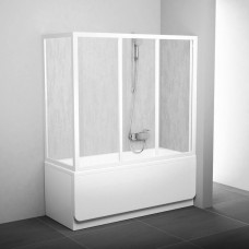 Стенка для душевой кабинки Ravak SUPERNOVA APSV-80 Grape, белый профиль, стекло