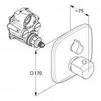 Термостатический смеситель для ванны и душа KLUDI AMEO, 418300575