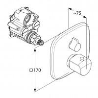 Термостатический смеситель для ванны и душа KLUDI AMEO, 418350575