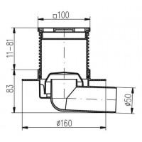 Трап MCH F411L  с дизайнерской решеткой горизонтальный