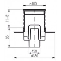 Трап MCH G414L с дизайнерской решеткой  вертикальный