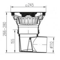 Трап уличный двухкорпусный  MCH 330S  с пластиковой решеткой