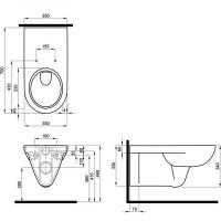 Унитаз подвесной Kolo NOVA PRO для людей с ограниченными физическими возможностями, M3350000