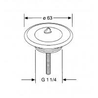 Универсальный сливной вентиль для умывальника Kludi  1141635-00