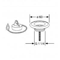 Универсальный сливной вентиль для умывальника Kludi  1140235-00