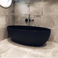 Ванна Besco PMD Piramida GOYA Black 160x70 + Смеситель для ванны скрытого монтажа Tres Project-tres, 21118003NM