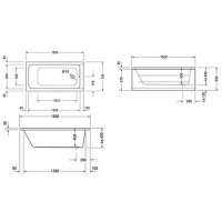 Ванна прямоугольная Duravit D-Code 150x75, без ножек, 700095000000000